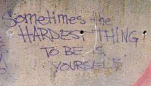 be yourself street art