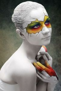 broken eggs body paint