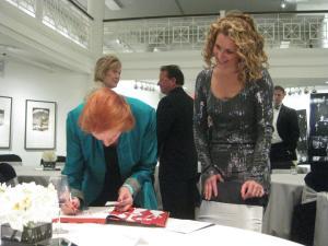 Edwina  signing book