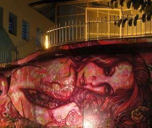 red woman grafitti